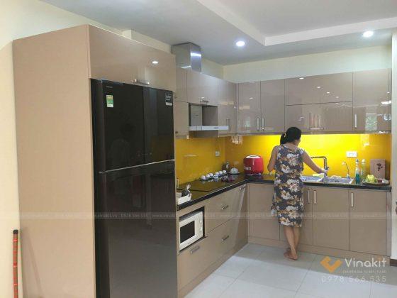 Bộ tủ bếp có kích thước tiêu chuẩn