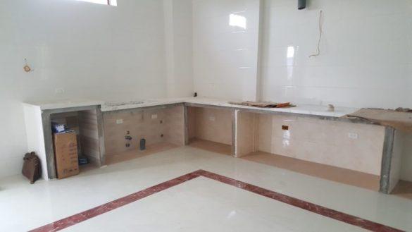 Bệ bê tông tủ bếp